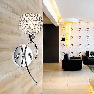1 Light Creative Iron Painting Modern Led Crystal Wall Lights Lamp For Home Wall Sconce Free Shipping new design nature white 2heads 6w 30cm led modern crystal wall lights lamp sconce factory wholesale led lightings