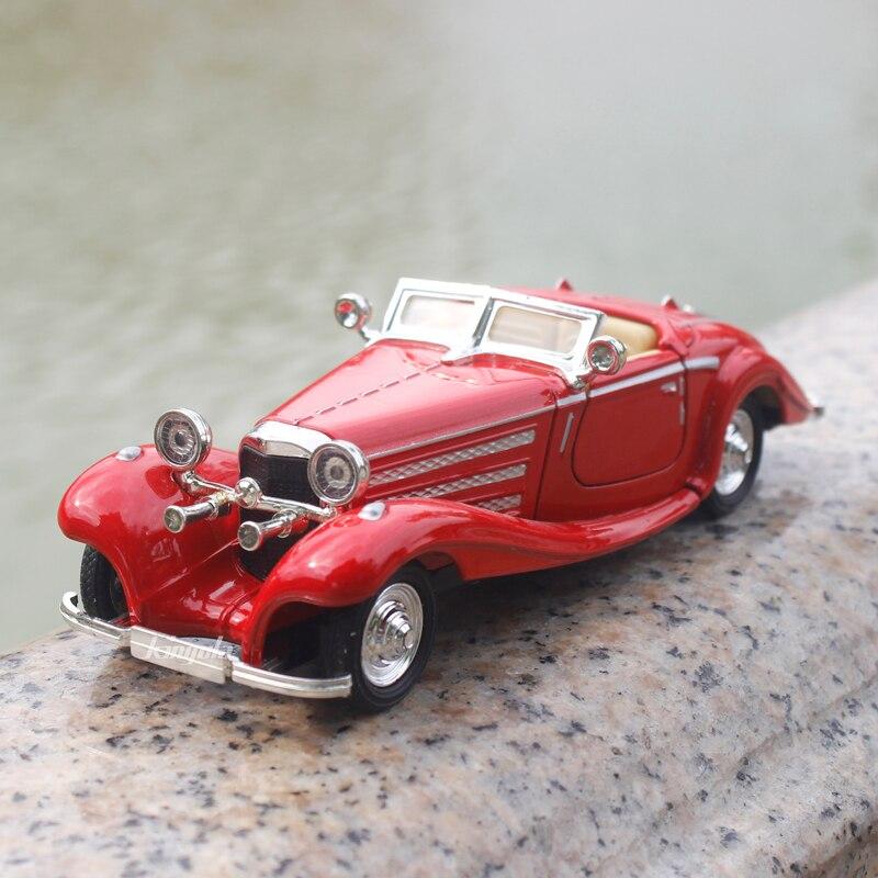1:28 Benz 500K legering Modelauto Klassiek Retro Mini Collectief - Auto's en voertuigen