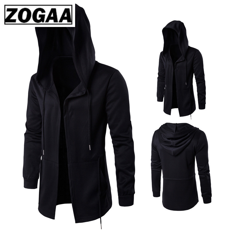 ZOGAA Men Hoodies Sports Casual Wear Zipper Fashion Tide Hooded Jacket Casual Wear Clothes Zip Up Hoody Jacket Assassin Master