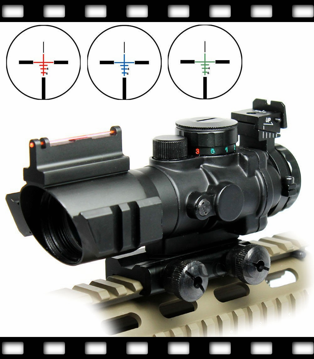 Shockproof 4X32 Reticle Illuminated RGB Prismatic Rifle Scope Optic For Hunting prismatic kids для дома