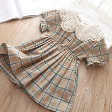 Baby Girls Dress Cotton Plaid Fashion Dresses For Girls Christmas Beautiful Kids Lace Clothes Children Birthday Summer 5 years girls dresses summer new children clothes girls beautiful lace dress white baby girls dress teenager kids dress for age 2 12y