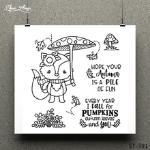 ZhuoAng Mushroom/fox Transparent and Clear Stamp DIY Scrapbooking Album Card Making Decoration