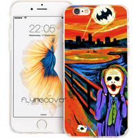 Coque Joker Batman Oil Clear Soft TPU Silicone Phone Cover for iPhone 7 7Plus Case for iPhone 5S 5 SE 6 6S 6Plus 4S 4 Capa Cases