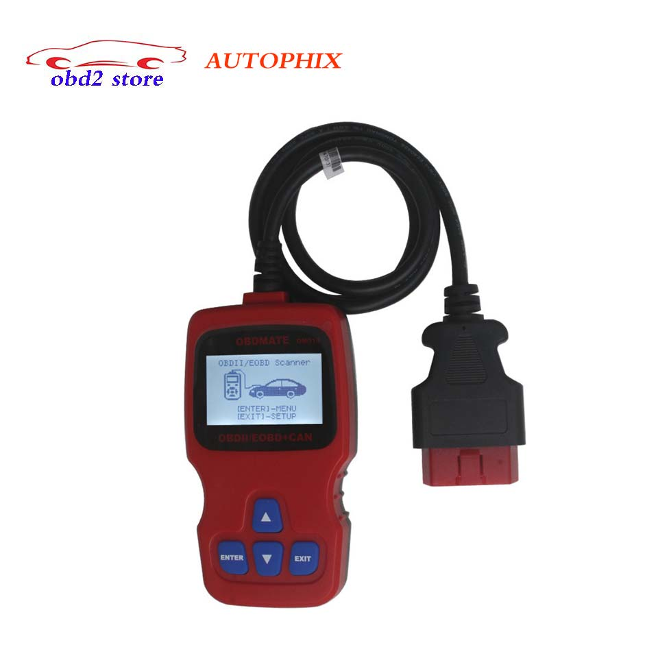 Original Autophix OBDMATE OM510 OBD2 Car Code Reader Scanner OBDII 16 Pin diagnostic-Tool OM 510 OM-510 Professional Scan Tool u480 1 5 lcd universal can bus obd2 car diagnostic code reader memo scanner