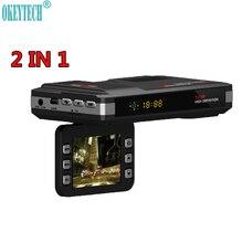 OkeyTech Best Anti Radiolokacja Car DVR Kamery 720 P Nowy 2 W 1 Samochód Motion Detector Rejestrator Wykrywania Przepływu Wsparcie G-sensor