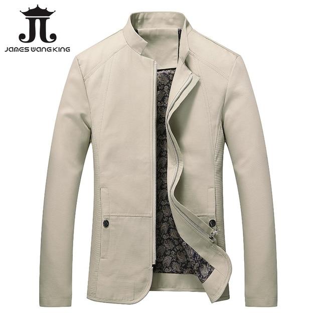 041b322cfbe Autumn Jackets Men Stand Collar Winter Thick Fleece Jacket For Man Outwear  Zipper Coats Solid warm jaqueta masculino size M-5XL