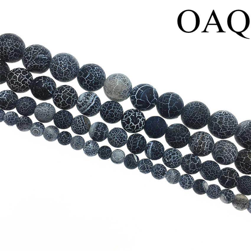 4-14 มม.ลูกปัดสีดำ Onyx หินธรรมชาติลูกปัด Carnelian หมองคล้ำ Fire Dragon ภาษาโปลิชคำหลอดเลือดดำสำหรับเครื่องประดับทำขายส่ง