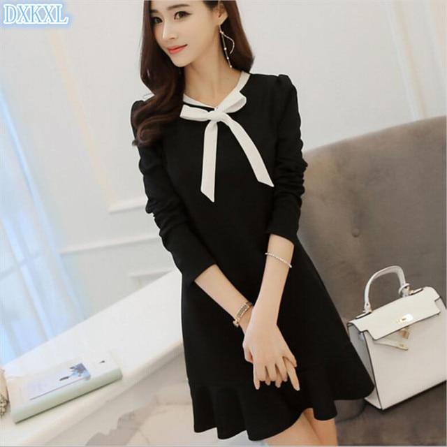 Fashion Women Dress 2017 Newest Cute Korean Style Women Black