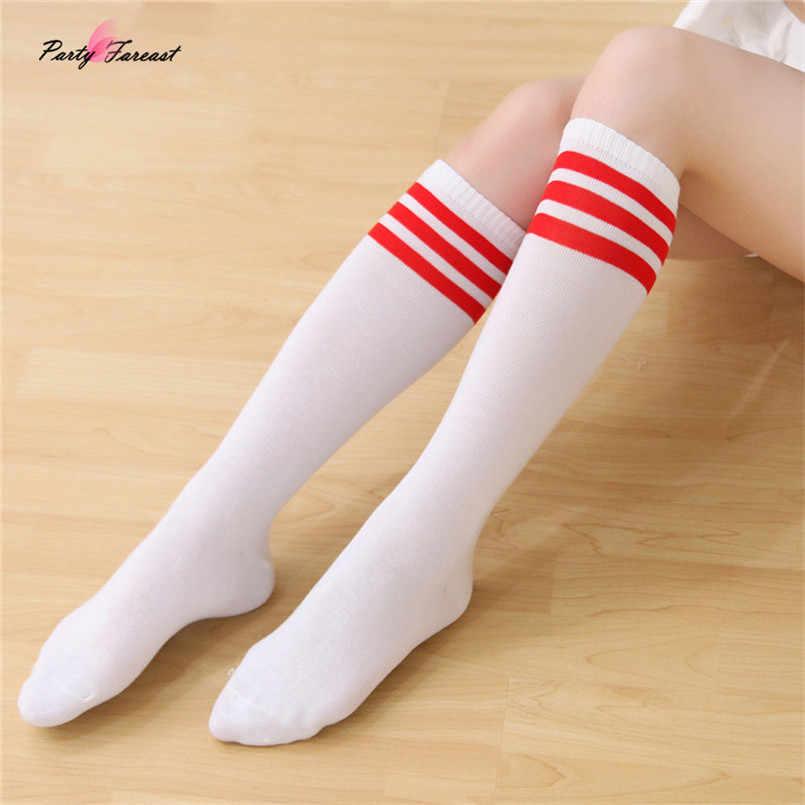 2dc756dfb209f PF Stripe Socks Thigh High Black White Knee High Socks for Women Girls Long  Stocking Fashion
