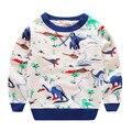 Kids Printed dinosaur Hoodies Boy Girl Hooded Infant Children Cotton cartoon Sweatshirt t shirt boy