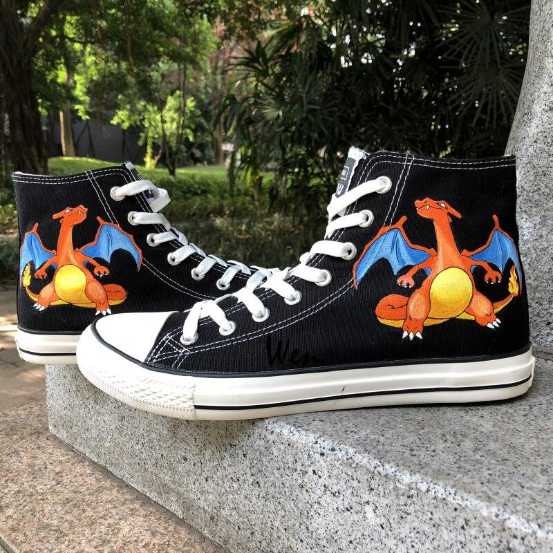 Mano Anime Bolsillo A Wen De Monstruo Dragón Pintados Zapatos fxdxtwq8I