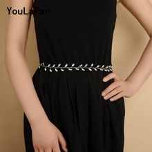 YouLaPan SH48-S Wedding sliver Belt for a wedding dress Bridal belt with Rhinestone  crystal
