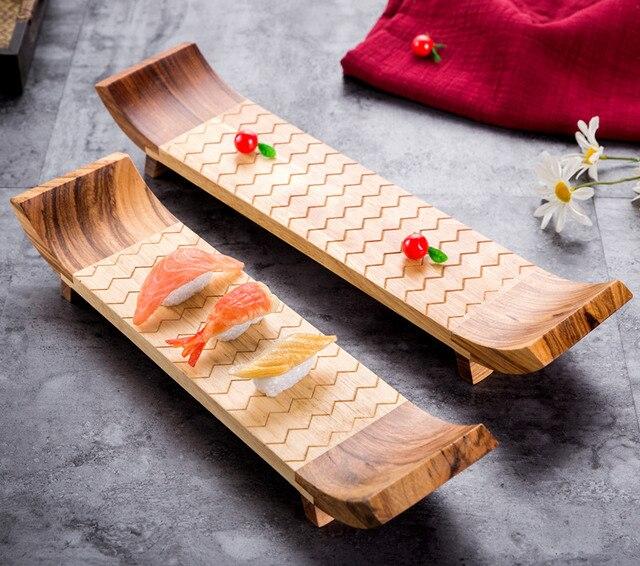Japan Style Bamboo Sushi Plate Tableware Sashimi Plate Board