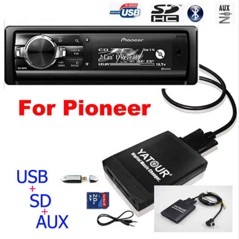 Yatour Car Audio MP3 Player for Pioneer DEH-P900 KEH-P6200-W MEH-P055 DEH-88 Digital Music Changer USB MP3 AUX BT Adapter image