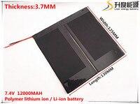 7.4 V 12000 mAH akumulator litowo-jonowy do PIPO M6, M6Pro, M6Pro 3G, Freelander PD800 Tablet PC, 37*125*130mm