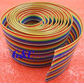 1 M 3.3ft 40 Way 40 pin IDC Plano Color Rainbow Ribbon Cable Fio Cabo Rainbow