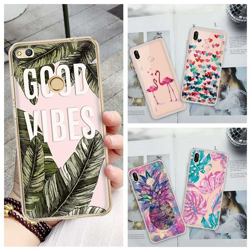 Luxury TPU Patterned Case For Huawei P30 P20 Lite Mate 10 20 Pro P30 Pro For Honor 10 Lite Flowers Silicone Cover