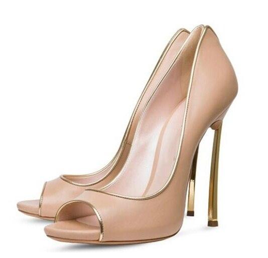 Top Italian Design Elegant Lady Dress Shoes Newest Hot Selling 2017 Fashion Peep Toe Mixed Color Blade Heel Nude High Heel Pumps newest peep toe high heel shoes 2017