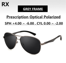 Sunglasses for Men Polarized Grey Lenses Single Vision Optical RX Power EXIA OPTICAL KD-101 Series