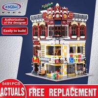 XingBao 01006 5491Pcs Genuine Creative MOC City Series The Toys And Bookstore Set Children Building Blocks