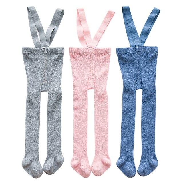 Детские колготки Мягкий Хлопок Одежда для младенцев Детские комбинезоны для малышей Колготки теплые однотонные для мальчиков и девочек колготки для малышей от 0 до 3 лет