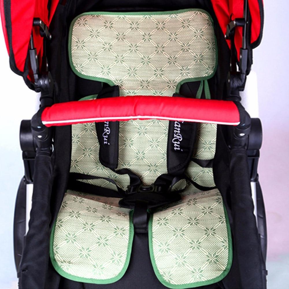 Младенцев летом прохладно коляска мат малышей подушки сиденья дышащий Pad Подушка соломы стул Аксессуары для колясок для новорожденных ...