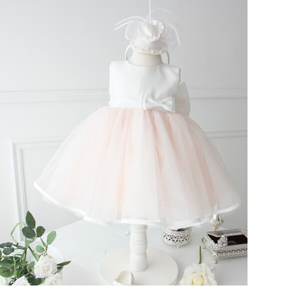 High quality Girl Party Dress Pink Lace White Bow Wedding Flower Girl Dresses with Big bow Christmas Gift for 2-7Y send envelope lace laser cut pink invitations cards for wedding free printing blank paper invitation card kit ribbons big bow