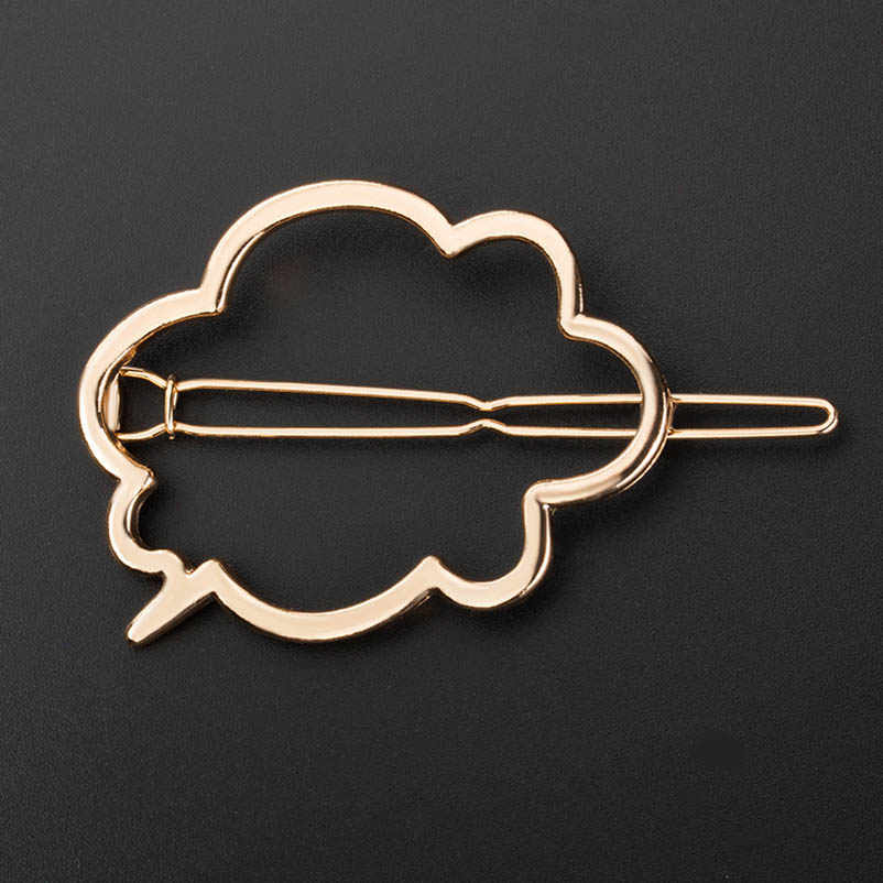 Metal Cartoon Cloud Headwear Golden Silver Side Pins Hair Clips & Pins Ponytail Holders Hair Accessories Clasps for Women