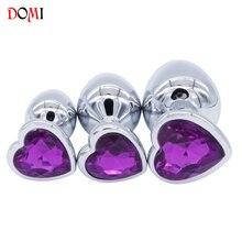(3 PCS) Heart Crystal Butt Plugs