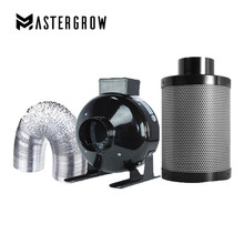 MasterGrow 4/5/6/8 Inch Centrifugal Fans&Activated Carbon Air Filter Set For Indoor Hydroponics Grow Tent Greenhouses Grow Light