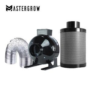Image 1 - MasterGrow 4/5/6/8 inç santrifüj fanlar ve aktif karbon hava filtre seti kapalı hidrofonik büyütme çadırı seralar ışık büyümeye yol açtı