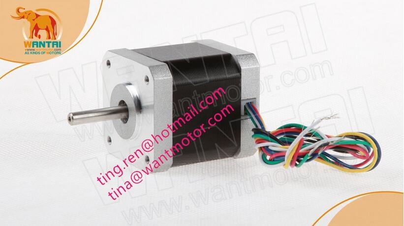 1PC Wantai 4-lead Nema 17 Stepper Motor 42BYGHW609 56oz-in 40mm 1.7A CE ROSH ISO CNC 3D Printer, Reprapp.FREE SHIP