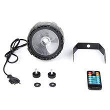 90-240V 30W LED Stage Light RGB UV Color RF Remote Self-Propelled Voice Control Stage Decor For DJ Bar Party Church With EU eu plug 48 led rgb voice activated auto rotating party stage light transparent ac 90 240v