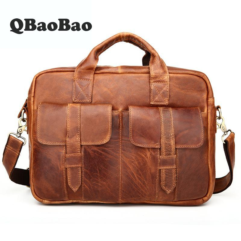 New Crossbody Mens Business Bag Crazy Horse Laptop Bag Leather Briefcase 2017 Retro Handbag Men Pasta Executiva Masculino набор для кухни pasta grande 1126804