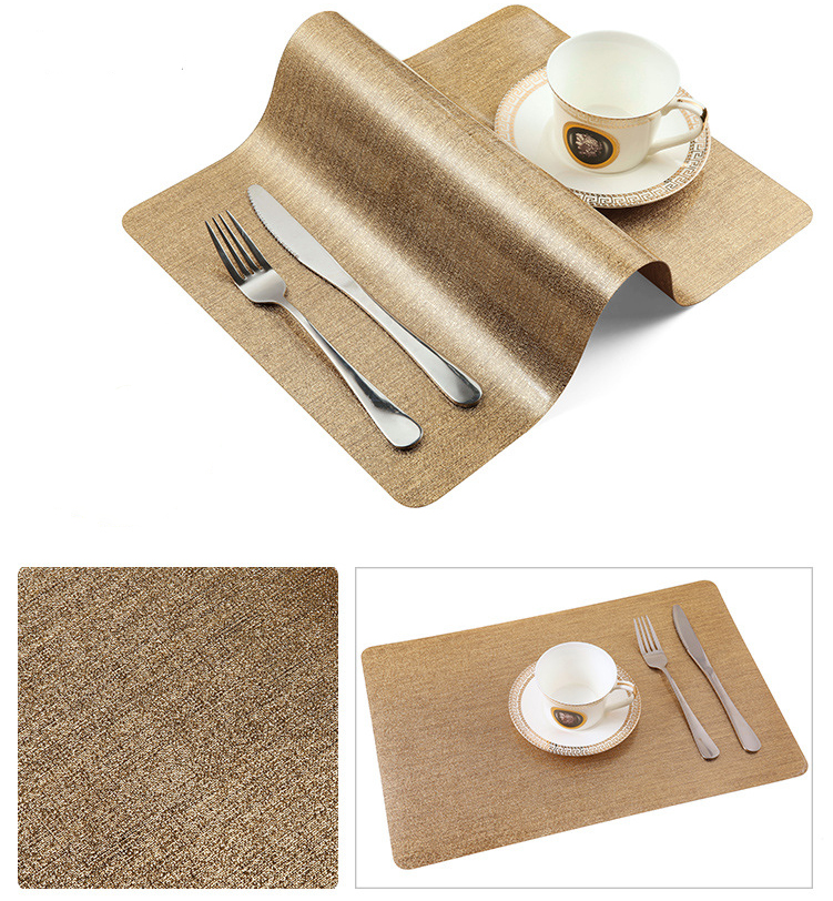 The latest and best gift for the perfect home decoration PVC padding restaurant durable table mats