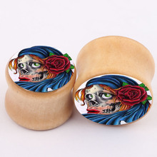 aliexpress new explosion real wood bones ear piercing jewelry earrings expansion PLUG tunnel body jewelry
