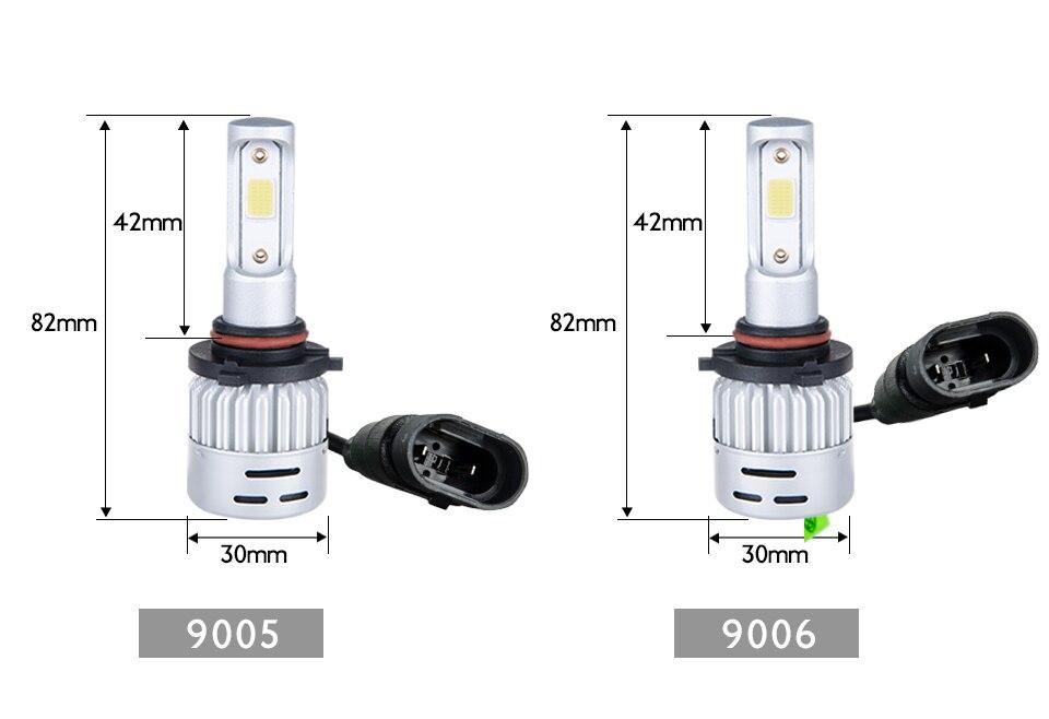 Aceersun H4 LED H7 Car Headlight H1 H8 H9 9005 9006 8000lm 4300K 6500K MINI 72W Auto Hi Lo Beam 12V And 5V USB Small stage light (22)