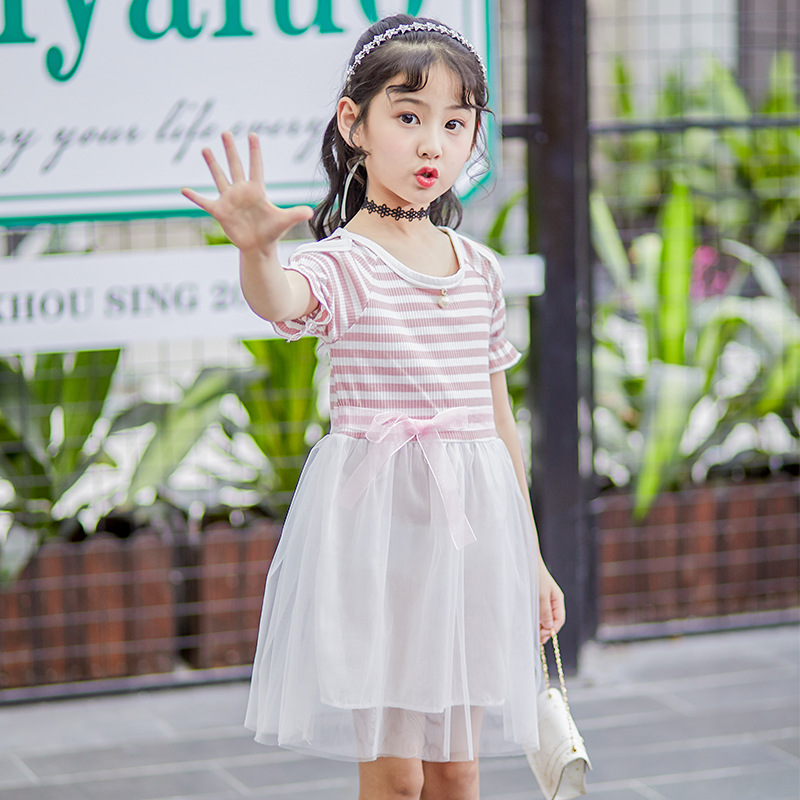 Baby Girls Dress 2018 Casual Striped Wedding Party Kids Dresses Girl Summer Clothing Princess Dress Children Clothes Teenager baby girl dress summer casual dresses 2018 kids clothes 100
