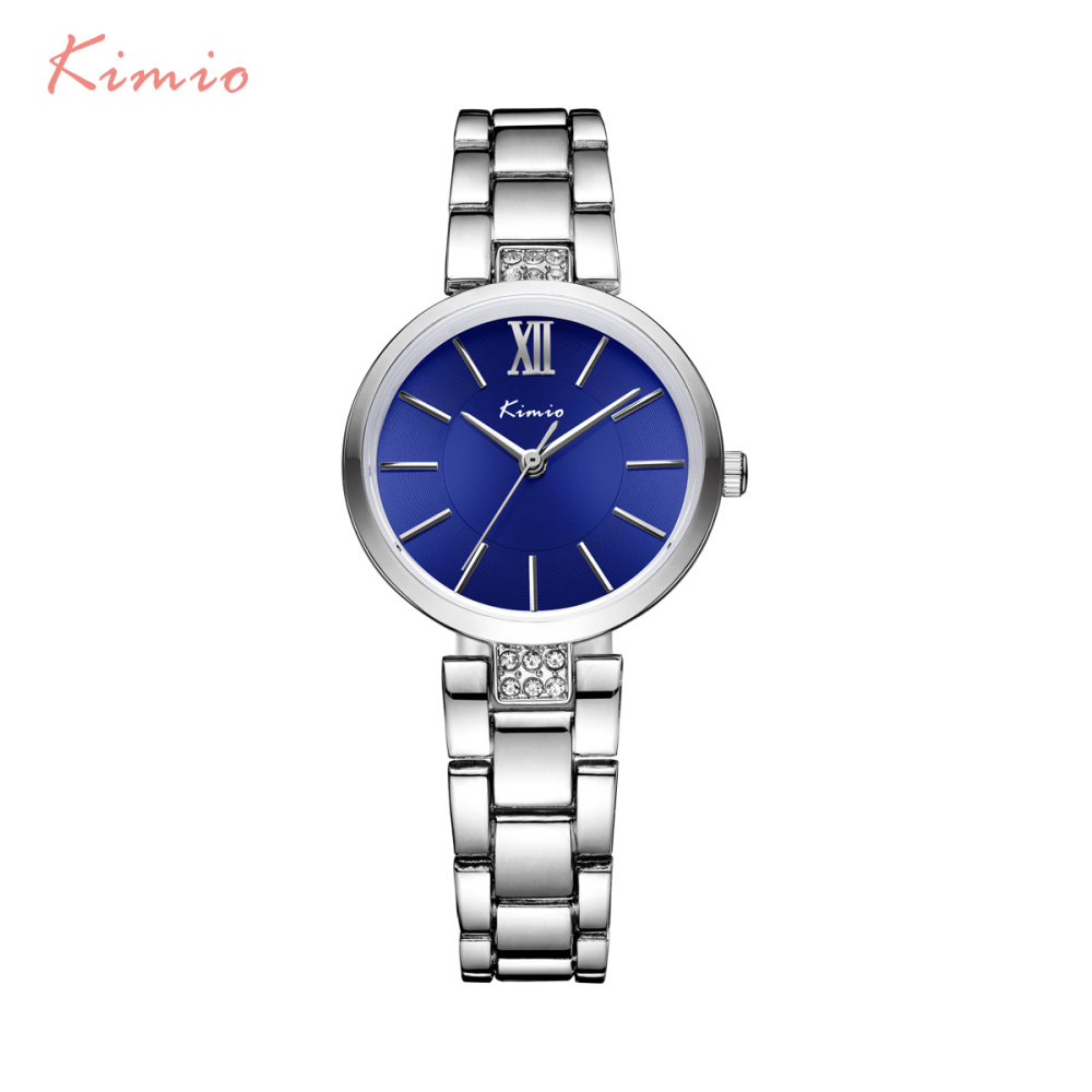 KIMIO Simple Thin Rhinestone Rose Gold Quartz Watches Women Fashion 2016 Ladies Watch Women s Watches