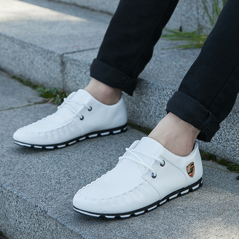 Mlcriyg New Driving Flat Man Track Shoes Non-slip Casual  Sports Shoes 2019  Italy Flat Korean Version Of Men's Peas Soft Shoes