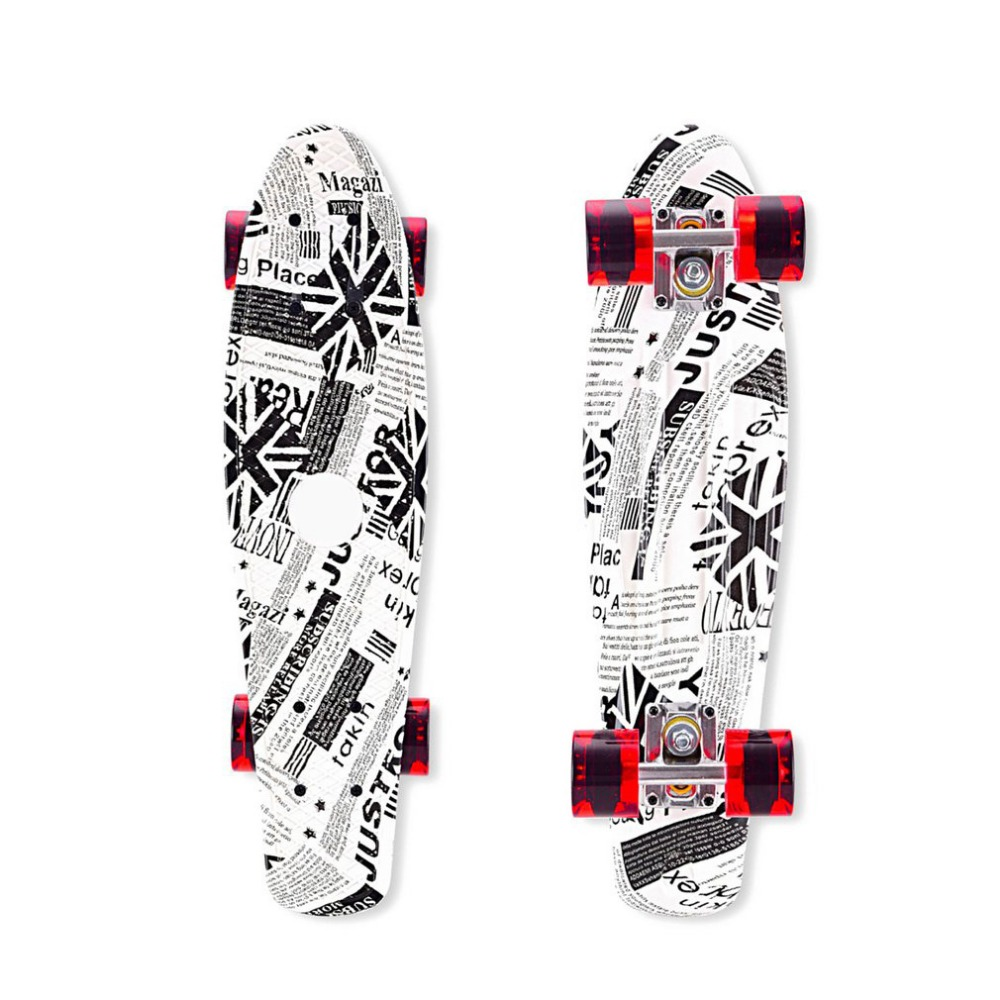 OUTAD 2018 NEW Mini Original Skate Board 4 Wheels Fish Skateboard Scooter Cruiser Brush Street Board For Kids Adults lance sobike bicycle new jersey cycling fleece thermal men long winter jacket cook mtb windproof outdoor sport cycling clothing