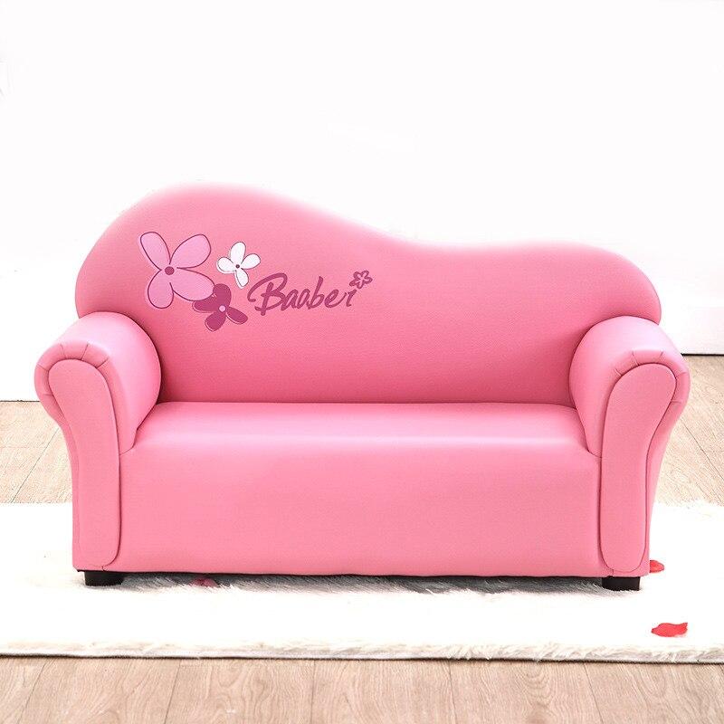 Hot enfants bébé siège canapé haute qualité Cartoon PU chaises salon canapés canapé pour Double 4 couleurs 83X37X50 cm rose