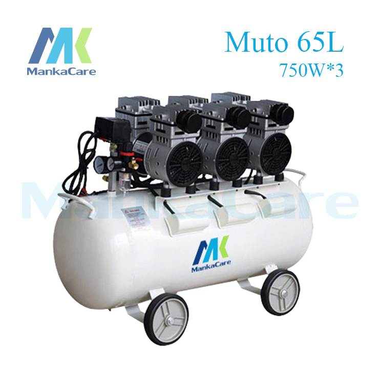 Manka Care 2250W Dental Air compressor 65L Tank Oil Free Rust-proof chamber/Tank/Silent/Flush air pump/ Dental Medical Clinic manka care motor 550w dental air compressor motors compressors head silent pumps oil less oil free compressing pump