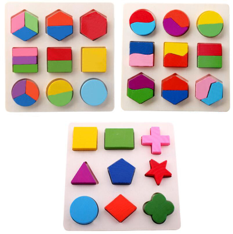 Baby Wooden Building Block Early Educational Toys ...