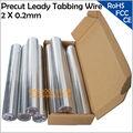 2x0 2 мм Leady Tabbing провод для пайки солнечных элементов  Precut 2 мм PV ленточный табирующий провод  Оптовая Продажа Солнечная вкладка провод для пан...