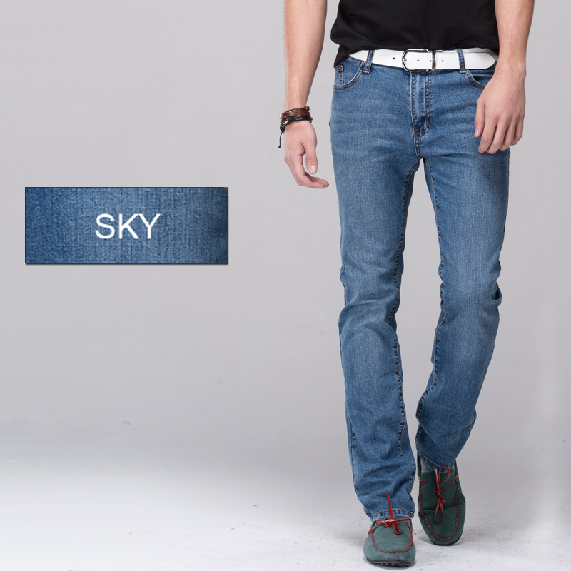b96fe64d1469 Men jeans stretch denim skinny jeans pencil pants skinny leg fit slim  straight trousers tight pants -in Jeans from Men s Clothing on  Aliexpress.com ...