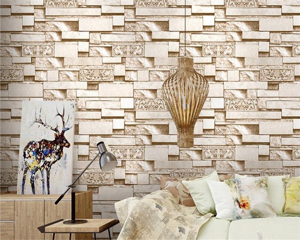 Beibehang 3D imitation brique papier peint café restaurant vêtements magasin magasin de vêtements sculpté brique photo 3d papier peint rouleau
