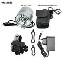 WasaFire 6000lm 5 XM L T6 LED Bicycle Front Light 3 Modes Rechargeable Flashlight 8 4V