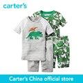 Ajuste Confortável Algodão de carter 4 pcs do bebê dos miúdos das crianças PJs 321G084/341G084, vendido por carter oficial da China loja