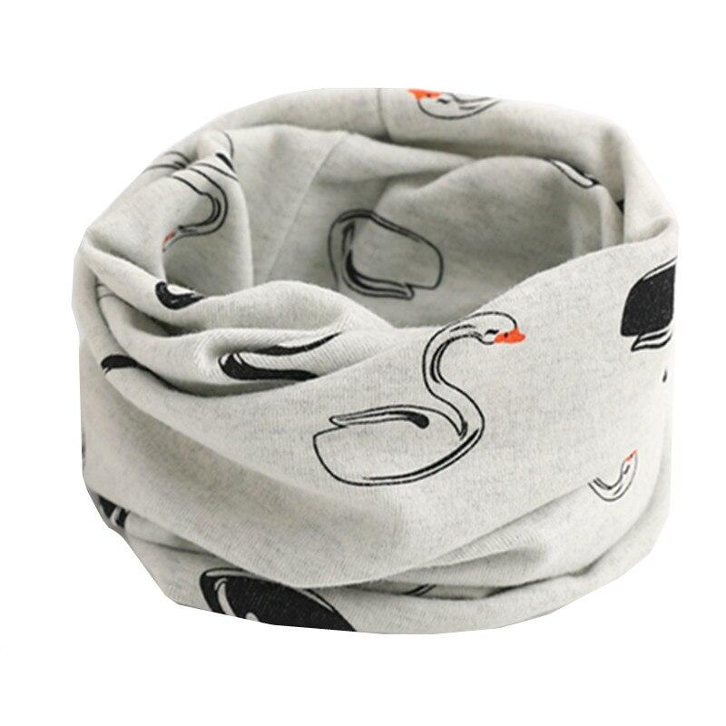 Осенне-зимний детский хлопковый шарф для девочек и мальчиков теплые шарфы Детский круглый кольцевой ошейник Детский шарф детский волшебный шейный платок - Цвет: gray swan